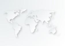 Vector иллюстрация бумажной карты мира Стоковые Изображения RF