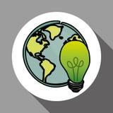 Vector иллюстрация зеленого цвета Think, editable значка Стоковые Изображения RF