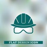 Vector иллюстрация значков сети - шлем безопасности, трудная шляпа Стоковое Изображение