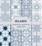 Vector иллюстрация комплекта безшовных картин исламских Стоковое фото RF