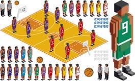 Вырез набора баскетбола тактический иллюстрация штока