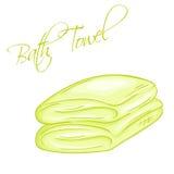 Vector иллюстрация нарисованная рукой изолированного полотенца ванны иллюстрация штока