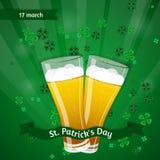Vector иллюстрация дня ` s St. Patrick Стоковая Фотография RF