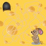 Vector иллюстрация острословия игры лабиринта или лабиринта Стоковые Фотографии RF