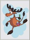 Vector иллюстрация оленей, карточка лосей Стоковые Изображения