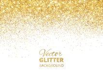 Vector иллюстрация падая confetti яркого блеска, золотого Fe пыли иллюстрация вектора