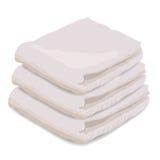 Vector иллюстрация полотенца изолированная на белой предпосылке иллюстрация штока
