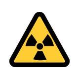 Vector иллюстрация предупредительного знака радиации, изолированная на белой предпосылке Стоковые Изображения