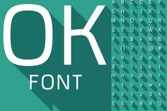 Vector иллюстрация плоского современного длинного алфавита тени иллюстрация штока