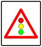 Vector иллюстрация светофоров подпишите изолированный на белой предпосылке Стоковая Фотография RF
