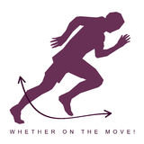 Vector иллюстрация силуэта спортсмена и тапок Стоковое Фото