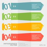 Самомоднейшие знамена вариантов infographics скорости. Стоковая Фотография RF