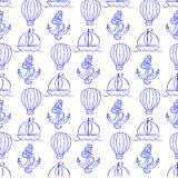 Vector иллюстрация с картиной в форме анкера и воздушного шара Стоковое Изображение