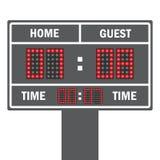Vector иллюстрация табло футбола СИД с полно данными бесплатная иллюстрация