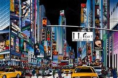 Улица в Нью-Йорке иллюстрация вектора