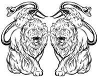 Vector иллюстрация химеры сделанная в стиле нарисованном рукой Стоковые Изображения