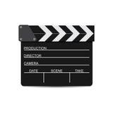 Vector иллюстрация черной колотушки фильма изолированной на белизне Стоковая Фотография RF