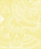 Vector иллюстрация чертежа на свете - желтой предпосылки doodle Стоковые Фотографии RF