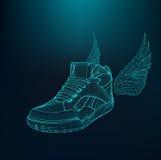 Vector иллюстрация eps 10 ботинок спорта для Стоковая Фотография