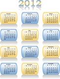 Vector календар 2012 Стоковое Изображение RF