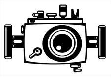 Vector камера фото фильма год сбора винограда изолированная на белизне Стоковые Фото