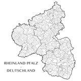 Vector карта положения Rhineland Palatinate, Германии Стоковая Фотография