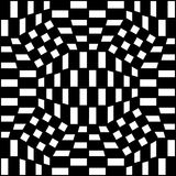 Vector картина геометрии битника абстрактная, черно-белая безшовная геометрическая предпосылка, тонкая подушка и плохая печать ли Стоковое фото RF