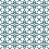 Vector картина геометрического пиксела орнамента этническая безшовная с пересекая квадратами иллюстрация штока