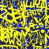 Vector картина граффити безшовная с абстрактным красочным ярким t Стоковые Фотографии RF