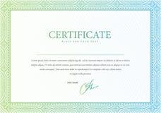 Vector картина которая использована в сертификате Стоковые Фото