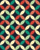 Vector картина кругов современной безшовной красочной геометрии перекрывая, конспект цвета Стоковые Изображения RF