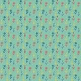 Vector картина, маленькие цветастые цветки на зеленом цвете Стоковое Изображение
