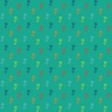 Vector картина, маленькие цветастые цветки на зеленом цвете Стоковая Фотография