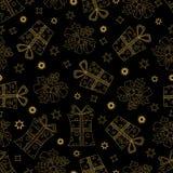 Vector картина нарисованная рукой безшовная с Новым Годом или с Рождеством Христовым Стоковое фото RF