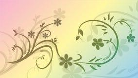 Vector картина от ветви с цветками на покрашенной предпосылке 10 eps иллюстрация штока