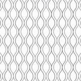 Vector картина, повторяя абстрактную гирлянду украшает с малыми квадратами на волнистой линии иллюстрация вектора