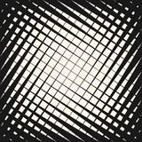 Vector картина полутонового изображения геометрическая с пересекать раскосные линии иллюстрация вектора