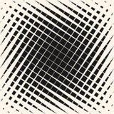 Vector картина полутонового изображения геометрическая с пересекать раскосные линии иллюстрация штока