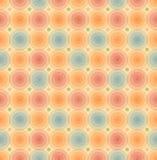 Vector картина ретро предпосылки винтажная безшовная с шаблоном лоснистых кругов геометрическим для обоев, крышек Стоковые Изображения