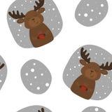Vector картина с шаблонами оленей и чашки Printable Стоковые Изображения