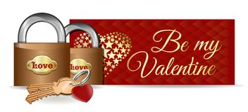 Vector карточка дня Valentines Стоковые Фотографии RF