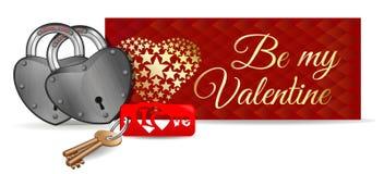 Vector карточка дня Valentines Стоковое Фото