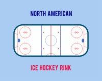 Vector каток хоккея на льде изолированный на белой предпосылке Иллюстрация взгляд сверху Стоковые Фотографии RF