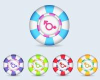 Vector кнопка иконы сексуальности сферы Стоковые Фотографии RF