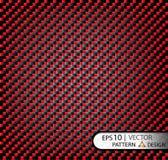 Vector красный цвет волокна углерода картины безшовный под маской для продукции фильма с текстурой Стоковое фото RF