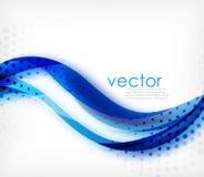 Vector красочная волнистая нашивка на белой предпосылке с запачканными влияниями Предпосылка конспекта techno вектора цифровая Стоковые Изображения RF