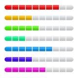 Vector красочное баров загрузки Preloader изолированное на белом eps Стоковое Изображение