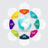 Vector красочные графики информации для ваших представлений дела Стоковые Изображения RF