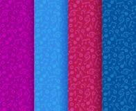Vector красочные музыкальные примечания и дискантовые ключи безшовная картина, иллюстрация вектора иллюстрация вектора