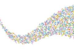 Vector красочный элемент предпосылки нотаций музыки в плоском стиле иллюстрация штока
